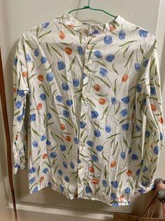 日本專櫃購入鬱金香襯衫上衣