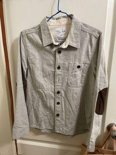 日本購入毛呢袖子補丁襯衫