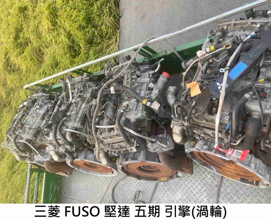引擎零件 三菱 FUSO 堅達 五期 渦輪 引擎 拆賣JL金亮汽車商行 中古汽車零件材料