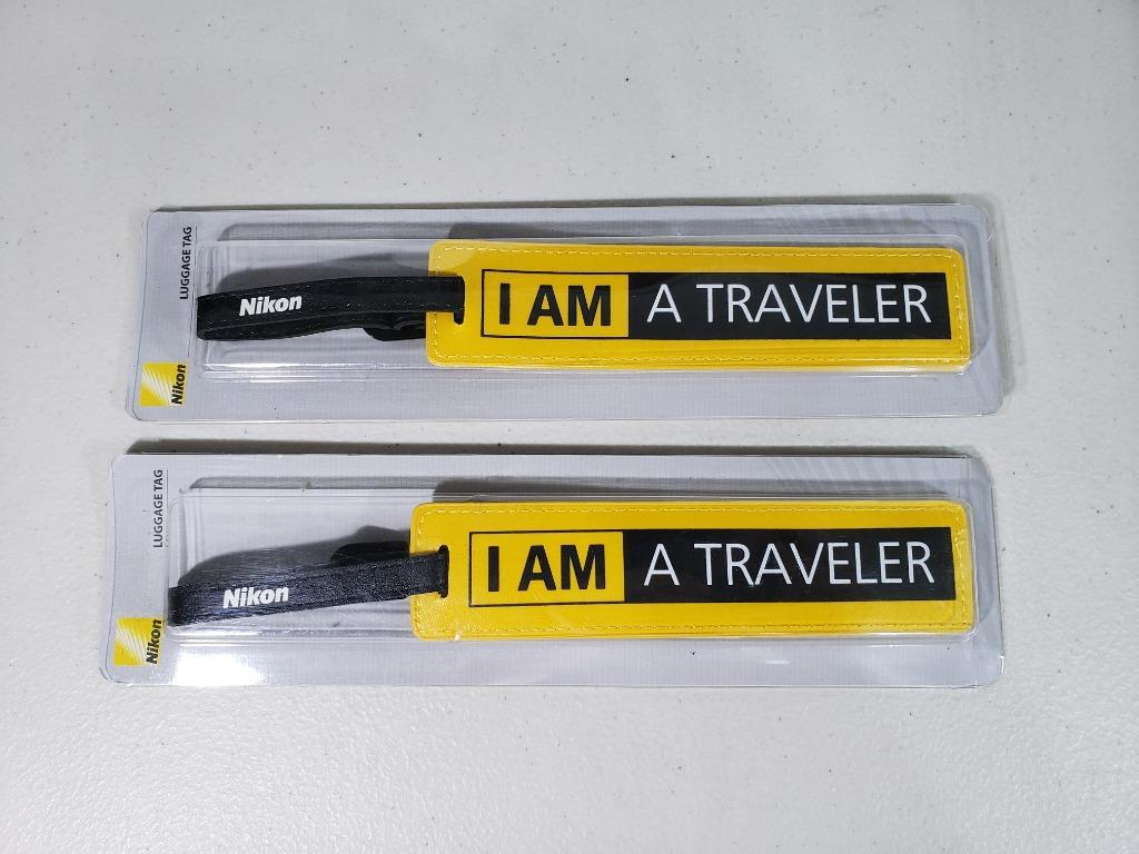 [全新] 📷 限量 Nikon 行李吊牌 I AM A Traveler 行李箱名片 托運牌 辨識牌 旅行吊牌 行李牌