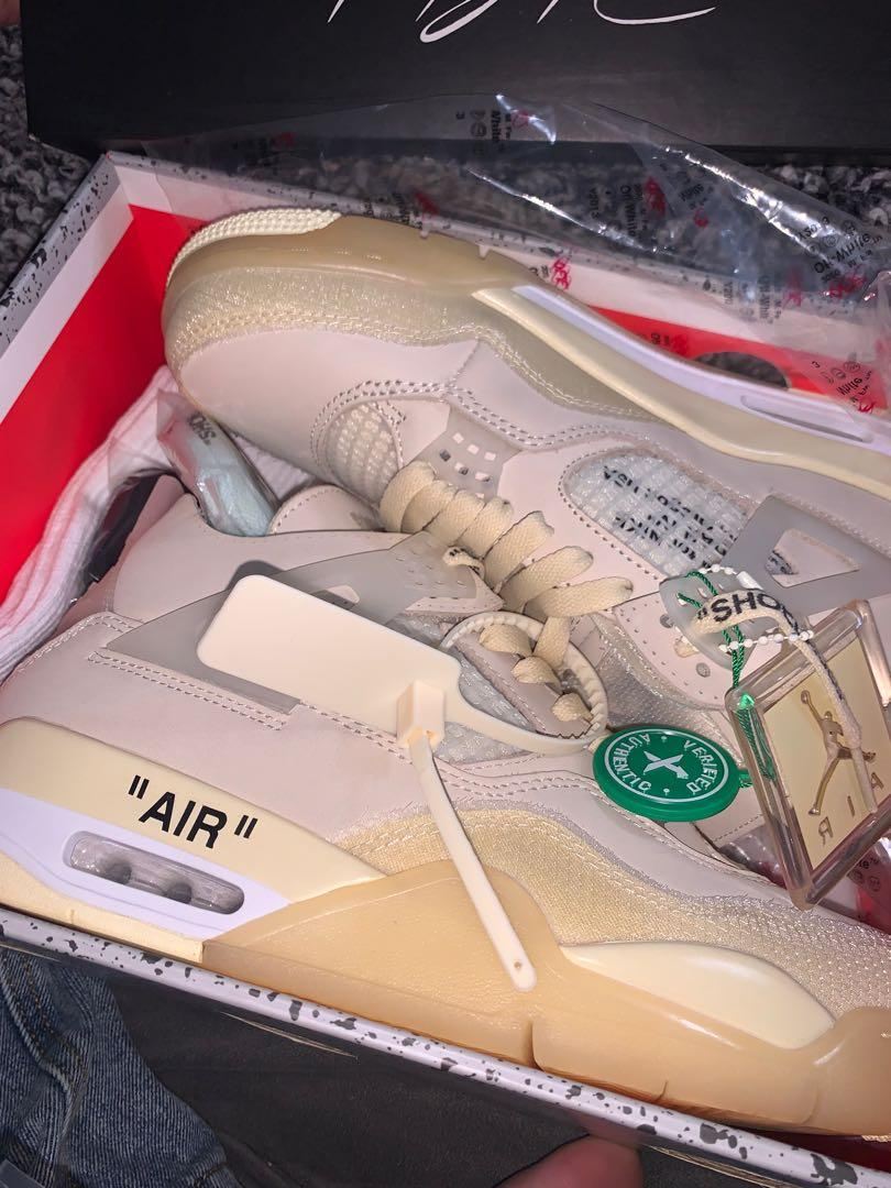 Air Jordan 4 off white