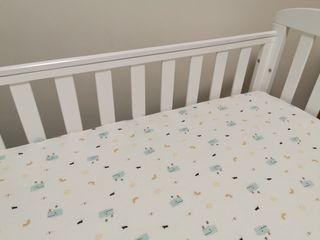 INSTOCK Baby Bedsheet 100% Smooth Jersey Cotton Crib Fitted Sheet