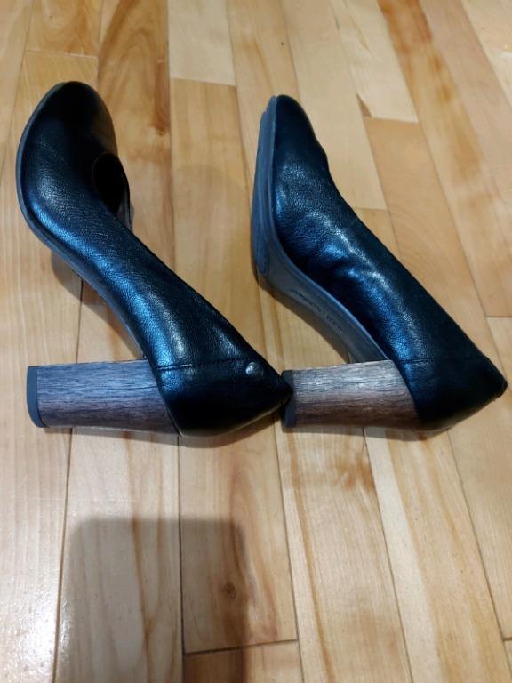 Black Block Heel Hush Puppies- size 6
