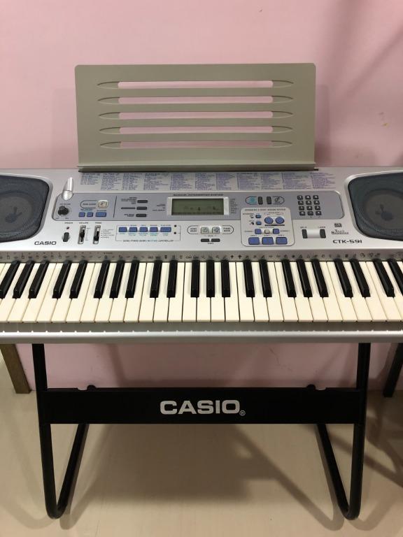 CASIO CTK-591 電子琴 力度鍵盤 自動伴奏 卡拉OK 61鍵 255 音色 120 節奏