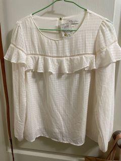 🌟全新🌟日本專櫃earth氣質長袖上衣(白)