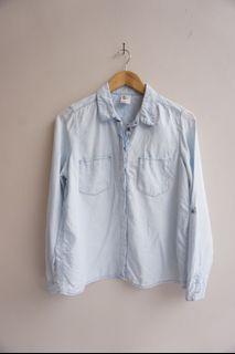 H&M Washed Denim Shirt