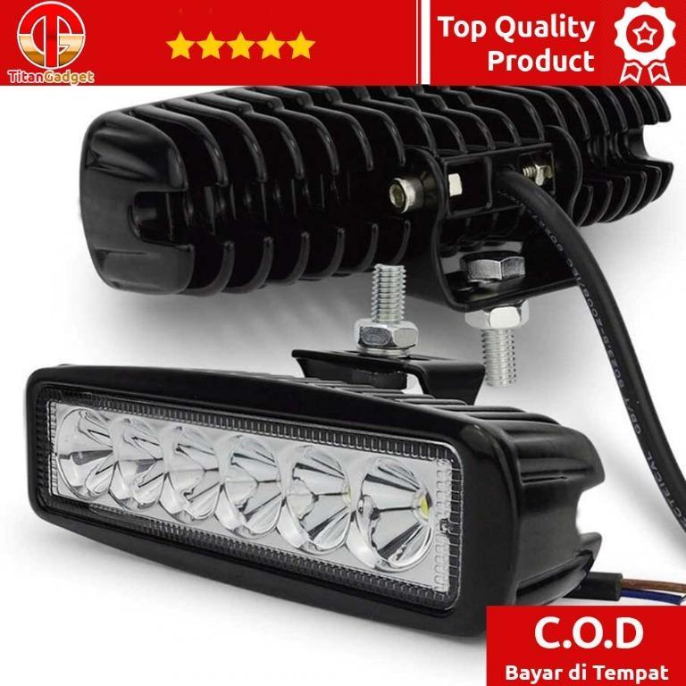 JCBFARA Lampu LED Spot Flood Mobil Truck ATV 18W - DRL18W TitanGadget