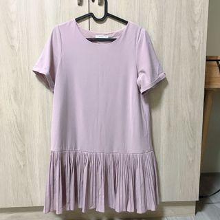 pazzo淡粉色連身百褶洋裝