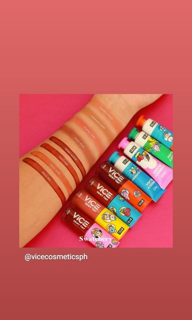 vice cosmetics bt21 lip and cheek tint
