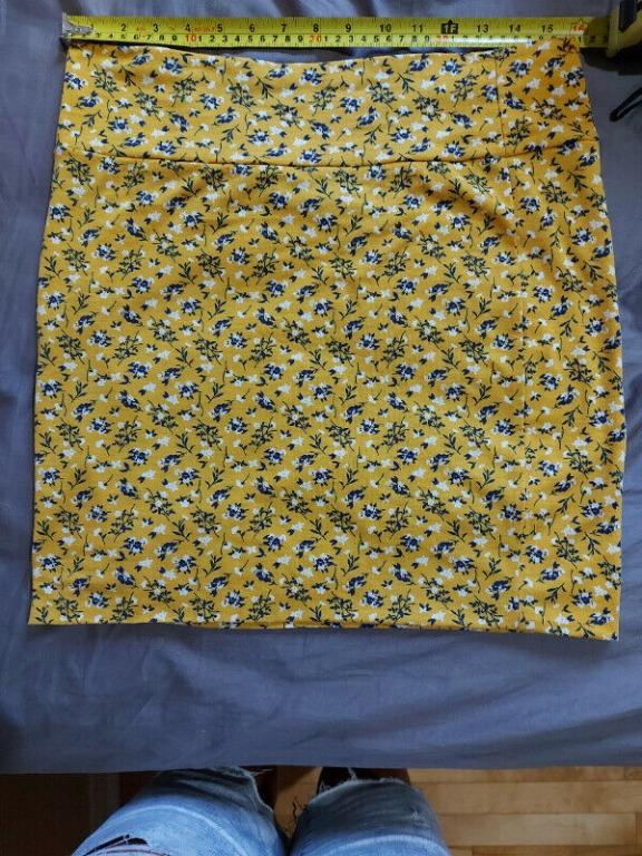 Yellow Floral Skirt- XL