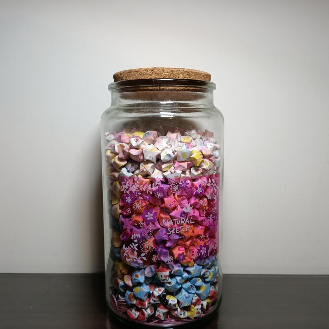 玻璃瓶 紙星星玻璃瓶罐