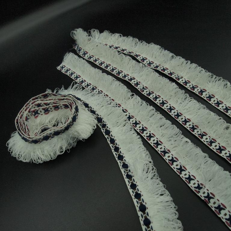 個人二手 棉蕾絲花邊  白色3公分寬 共180公分長 (60 公分+40公分x 3條)