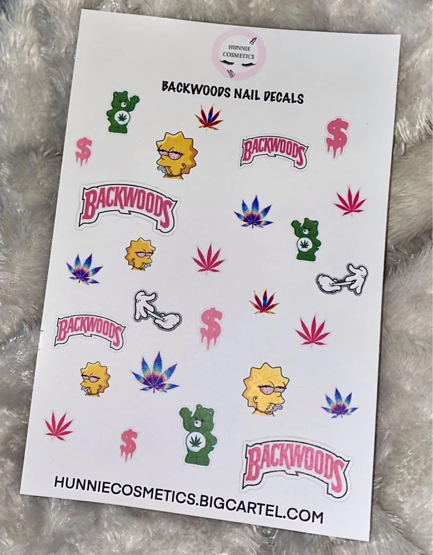 Backwoods nail decals