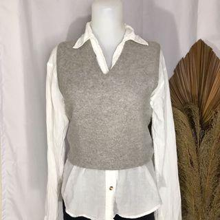 Grey vest vintage