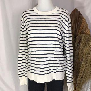 Oversized stripes top