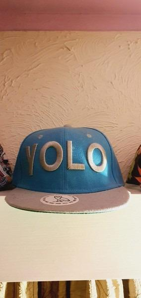 Blue Snapback - YOLO