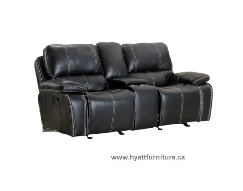 Brand new Gel Leather Love Seat Recliner w/ Console
