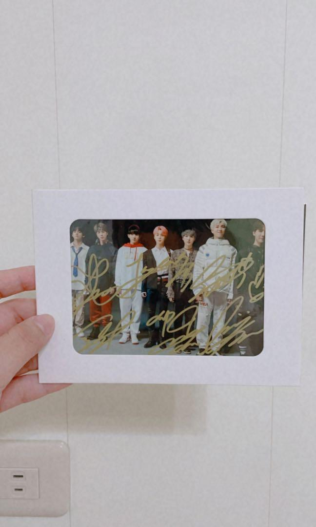 BTS 親筆簽名照