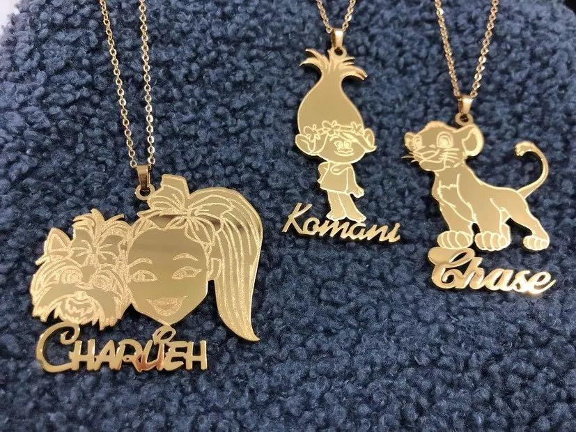 Cartoon character Pendant & necklace