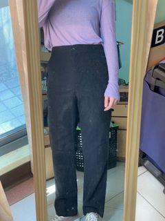 CHILL 質感黑色直筒褲 S
