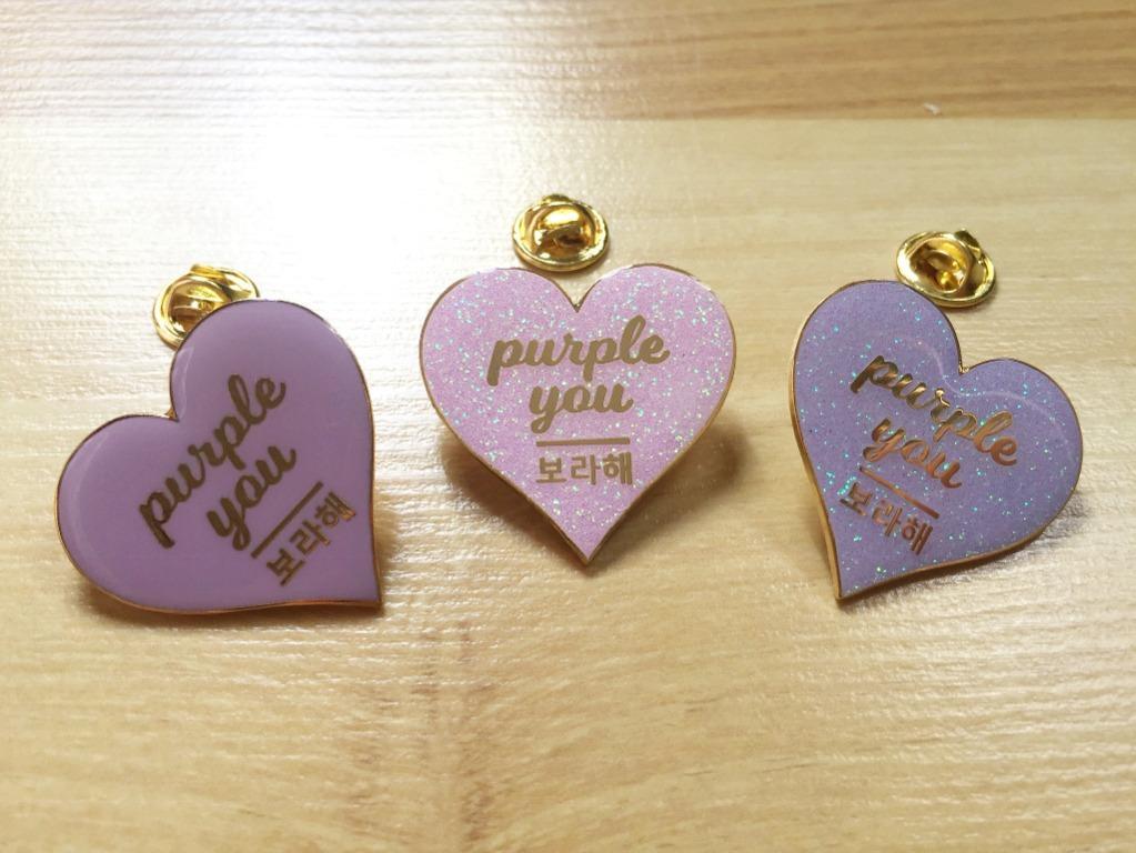 BTS Premium Gold Enamel Pin Badge: PURPLE YOU | 보라해