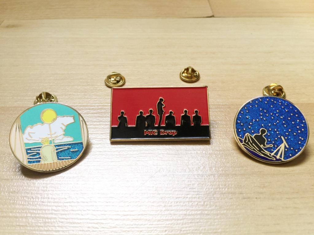BTS Premium Gold Enamel Pin Badge: Serendipity Day & Night Ver. | Mic Drop