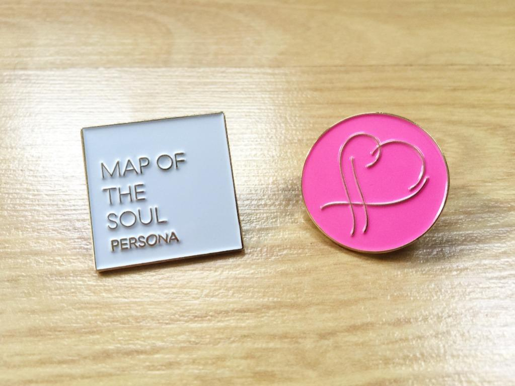 BTS Premium Gold Enamel Pin Badge: Map of the Soul PERSONA