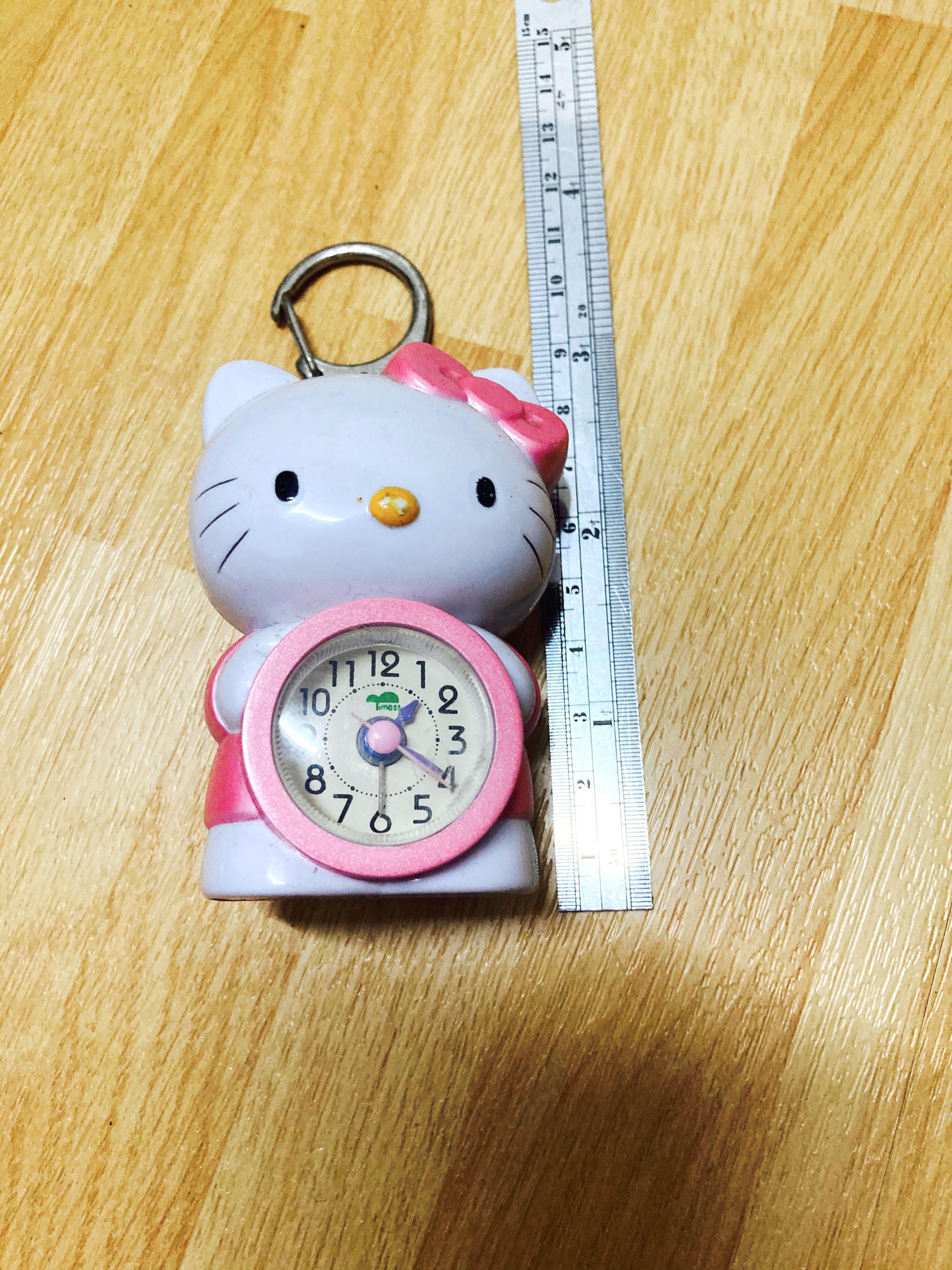 Hello kitty 小時鐘+鑰匙圈