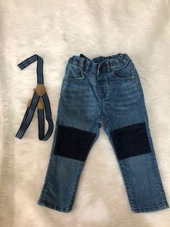 H&M jeans for baby (12-18m) with suspender