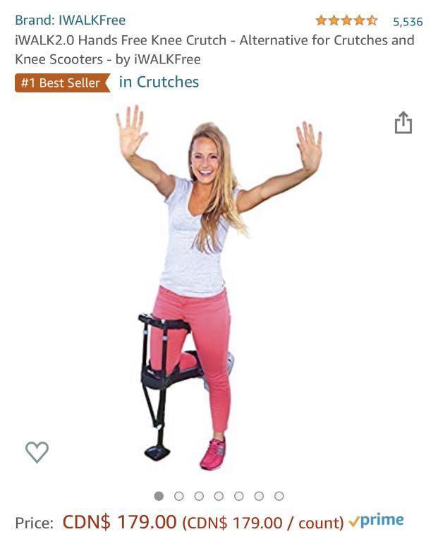 iWalk 2.0 ( hands free crutches ) NEW