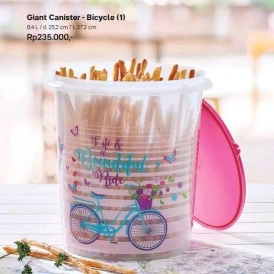 ORIGINAL Toples Tupperware Harga Promo Giant Canister Bicycle