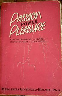 First edition and Rare: Passion Power Pleasure by Margarita Holmes