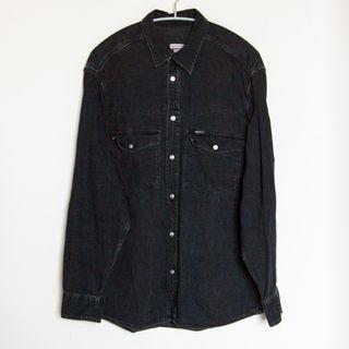 RIFLE 黑色 牛仔 長袖 襯衫