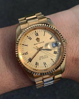 Sandoz Swiss Roman Numeral Datejust/President Homage Automatic Watch Not Seiko, Orient, Casio, Timex, Rolex, Tissot, Bulova Super Seville, Omega, Rado
