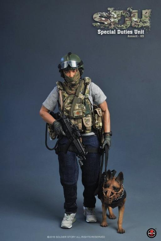 1//18 SWAT Hong Kong Police Dog Unit Soldier Military 4 Inch Action Figure