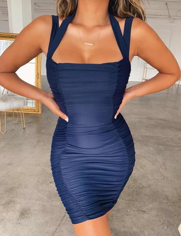 Tiger Mist Navy Dress