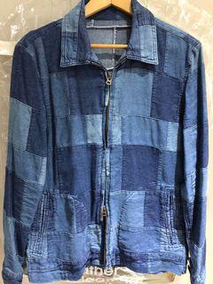 日本製 拼接 牛仔 藍染 indigo 外套 古著 vintage