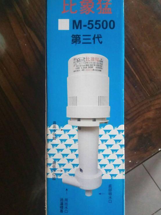 台灣 比象猛 第三代淡海水超強揚水馬達  M-5500(單進單出水)