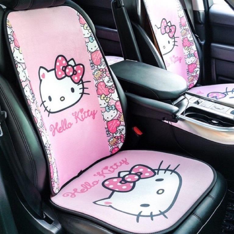 🔥 Kitty 三麗鷗 汽車坐墊 車用 坐墊 免綑綁 汽車 毛絨