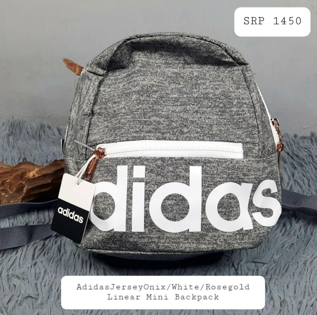 ADIDAS | JERSEY ONIX/WHITE/ ROSE GOLD | Linear Mini Backpack ...
