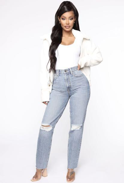 Fashion Nova ALL SPLIT UP HIGH RISE