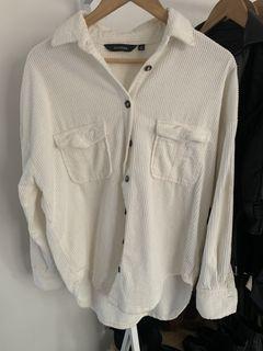 Glassons Longline Cord Jacket - White