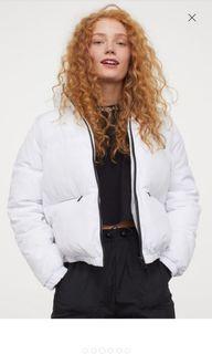 H&M White Puffer Coat (Size XS)