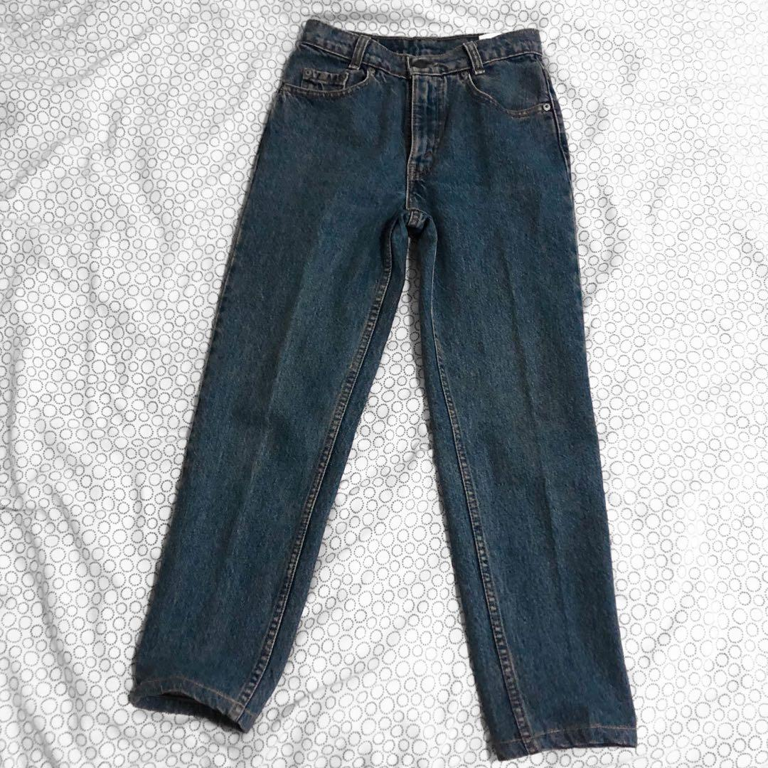 Levi's high waisted straight leg jeans 100% cotton