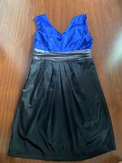 Minidress blue black