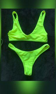 Neon green two piece