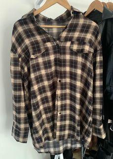 Oversized Check Shirt - Pretty Little Thing