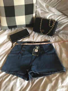 Soft Denim High Waist shorts