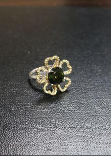 18k金,天然钻石戒指 (18k Gold, natural diamonds Ring)