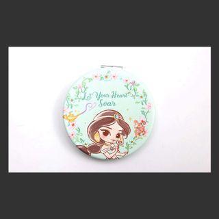 天藍小舖迪士尼雙面圓鏡-茉莉公主